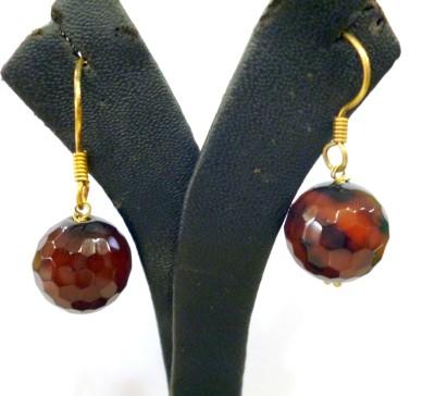 Prism Jewels Semi-Precious Jewelry Onyx Alloy Dangle Earring