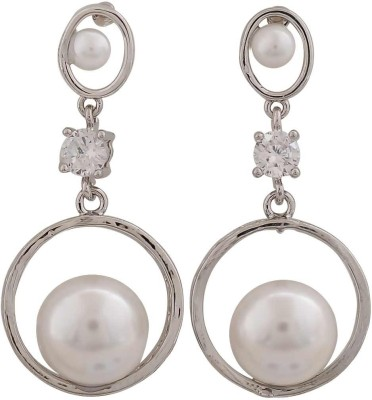 Maayra Exquisite Indian Crystal Alloy Drop Earring