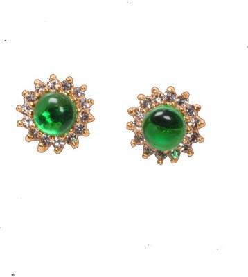 PFJ PFJ3033-EARRING Cubic Zirconia Brass, Copper Stud Earring
