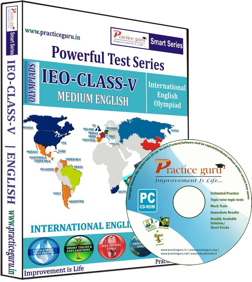 Practice Guru Powerful Test Series IEO Medium English (Class - 5)