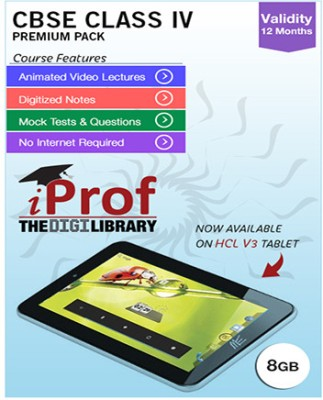 iProf CBSE Class 4 Maestro Series Premium Pack with HCL V3 Tablet