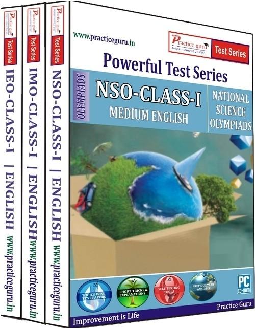 Practice Guru Powerful Test Series (IMO / NSO / IEO) Medium English (Class - 1) (Combo Pack)