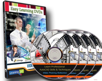 Easylearning Professional AutoCAD Skills & Techniques 30 Courses Video Training on 4 DVDs Pack