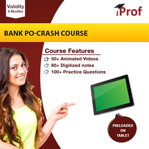 iProf Bank PO Crash Course In Educational Tablet(Educational Tablet)
