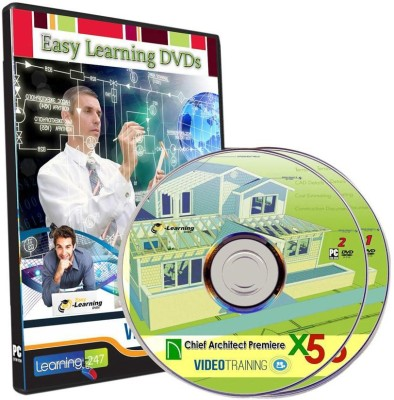 Easy Learning Chief Architect Premier X5 Complete Video Tutorial On 2 DVDs