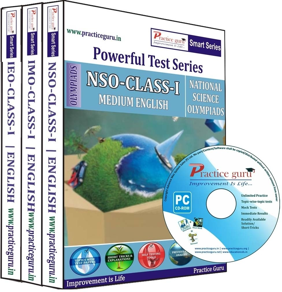 Practice Guru Powerful Test Series (NSO / IMO / IEO) Medium English (Class - 1) (Combo Pack)