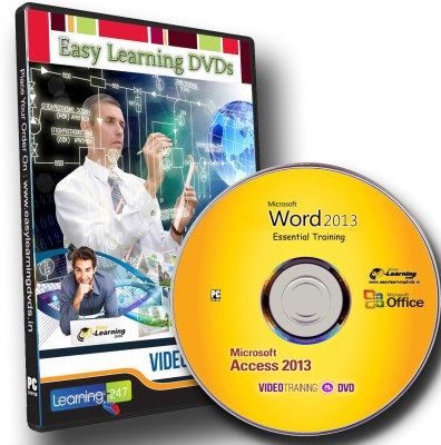 Easy Learning MS Word 2013 & MS Access 2013 Video Training DVD