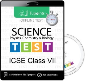 Tupoints ICSE class 7 Science(Physics,Chemistry,Biology) Offline Test(CD)