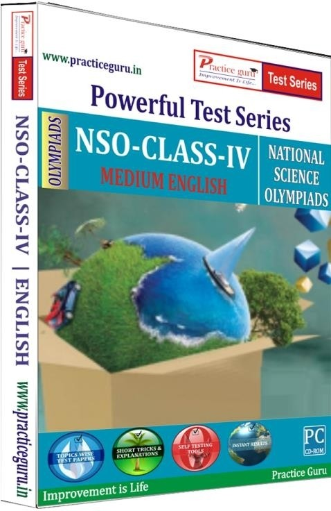 Practice Guru Powerful Test Series - NSO Medium English (Class - 4)