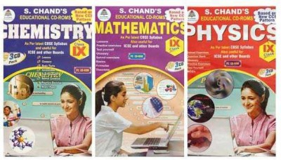S.CHAND PHYSICS/CHEMISTRY/MATHS- COMBO PACK CD FOR 9TH CLASS