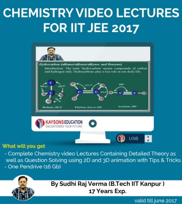 Kaysons Education IIT JEE Chemistry Preparation Material (2017) : Video Lectures for JEE Main and Advance Designed By IITian(Pendrive)