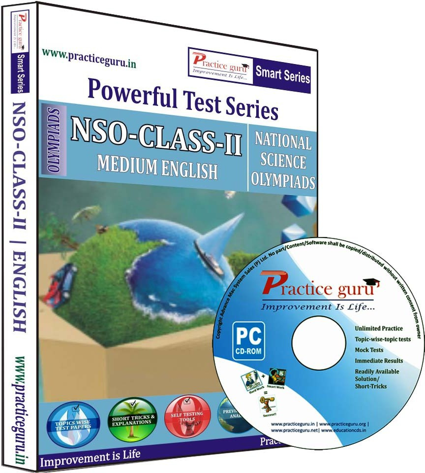 Practice Guru Powerful Test Series NSO Medium English (Class - 2)