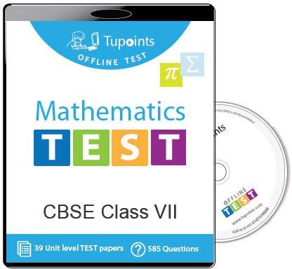 Tupoints Cbse Class 7 Maths Offline Test(DVD)