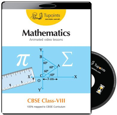 Tupoints CBSE VIII Mathematics Animated video lessons(DVD)