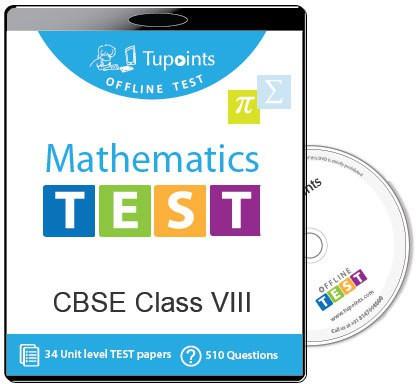 Tupoints Cbse Class 8 Maths Offline Test(DVD)