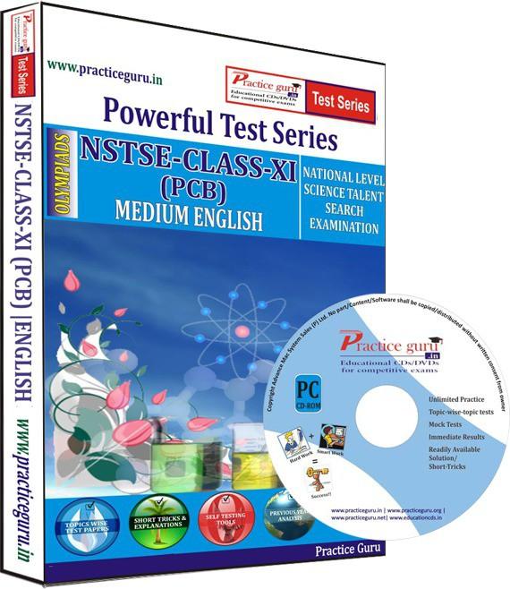 Practice Guru NSTSE Class 11 (PCB) Test Series(CD)