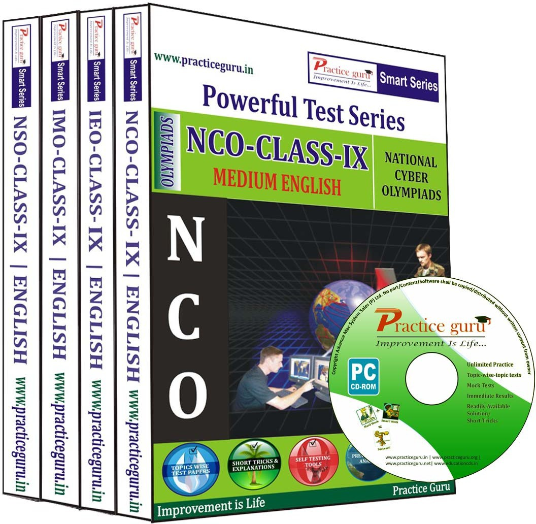 Practice Guru Powerful Test Series (NCO / IEO / IMO / NSO) Medium English (Class - 9) (Combo Pack)