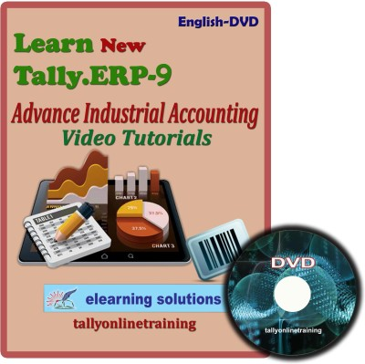 Elearning Solutions Tally.ERP 9 Advance Industrial Accouting Video Tutorial in English
