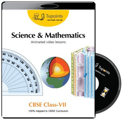 Tupoints CBSE VII Science and Mathematics Animated video lessons(DVD)