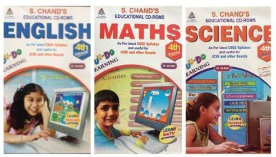 S.CHAND FUN-DO-COMBO PACK -MATHS/SCIENCE/ENGLISH CD FOR 4TH CLASS