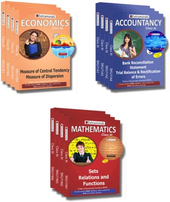 Extraminds Class XI - Combo – ACCOUNTANCY-ECONOMY-MATHS- Lecture DVD
