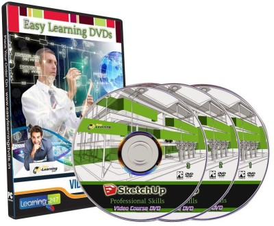 Easy Learning SketchUp professional Skills 12 Courses Video Training On 3 DVDs