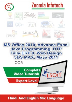 LSOIT MSOffice, DTP,Tally9,Web Designing,3DS Max Tutorials(Essential+ Particle Effects + Animation Effects)+ Maya+ Core Java Programming Video Tutorials in Hindi, Total 1226 Lectures and Total Duration 115 Hours