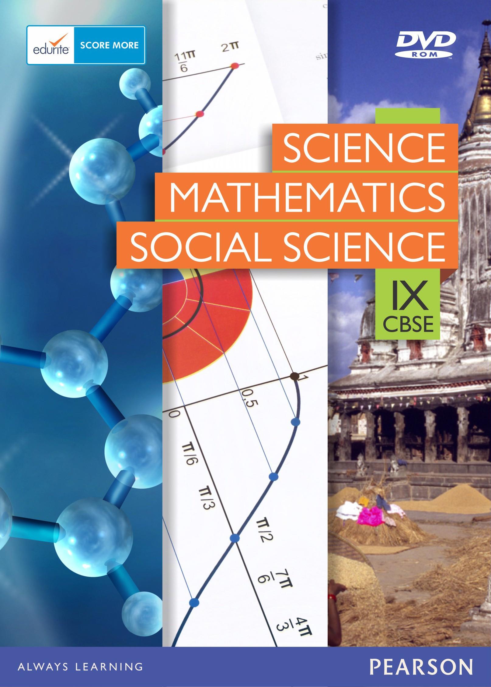 Edurite CBSE Class 9 Combo (Science, Maths,Social Science)(DVD)
