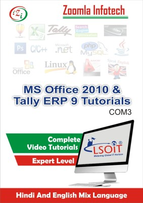 LSOIT MS Office 2010 +Tally ERP 9 Video Tutorials in Hindi, Total 201 Lectures and Total Duration 33 Hours