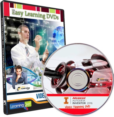 Easy Learning Advanced Autodesk Inventor 2016 Video Training Tutorial DVD
