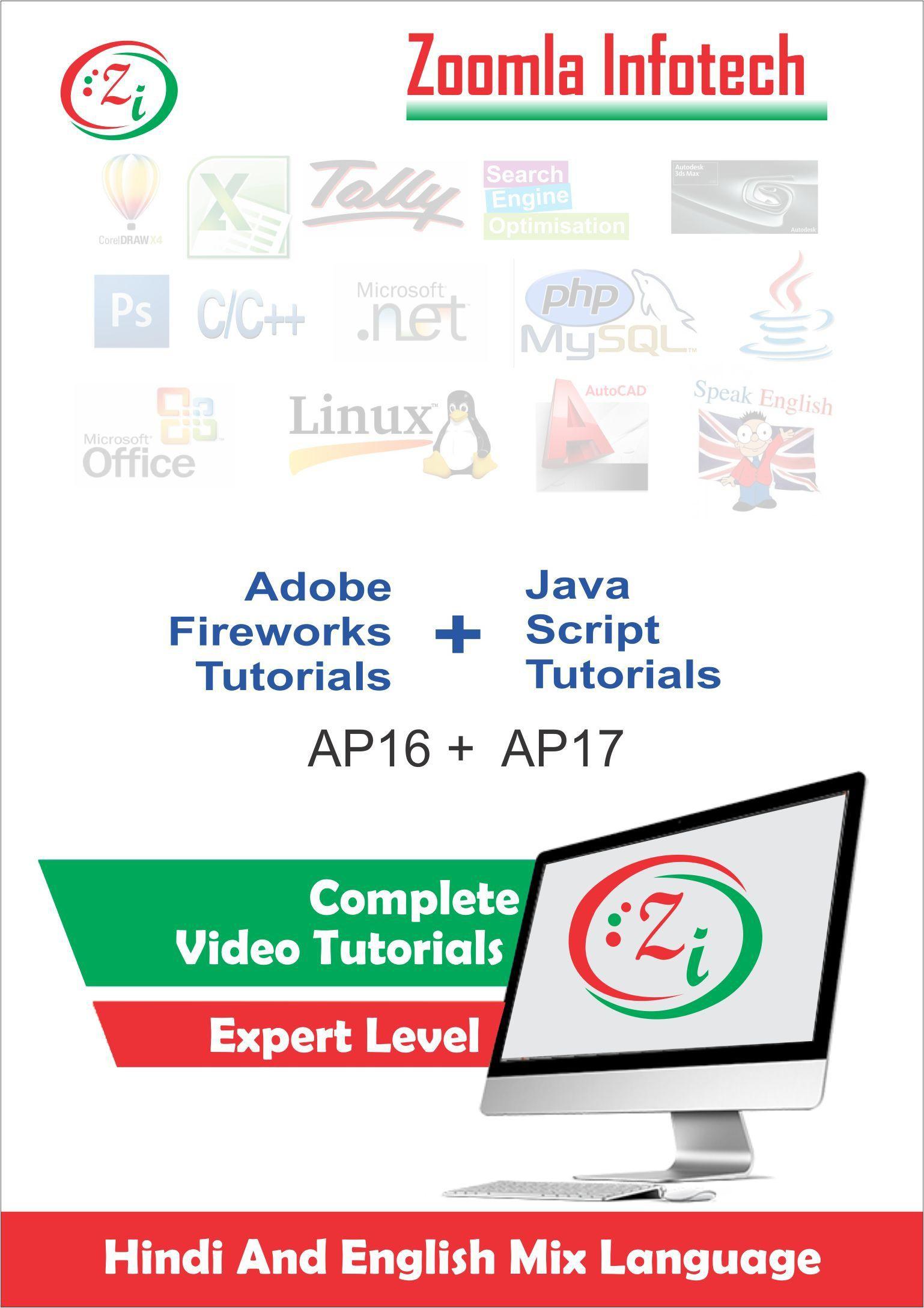 Javascripts - Zoomla Infotech Adobe Fireworks For Designers Java Scripts Basics Learning Video Tutorials Dvd Cd