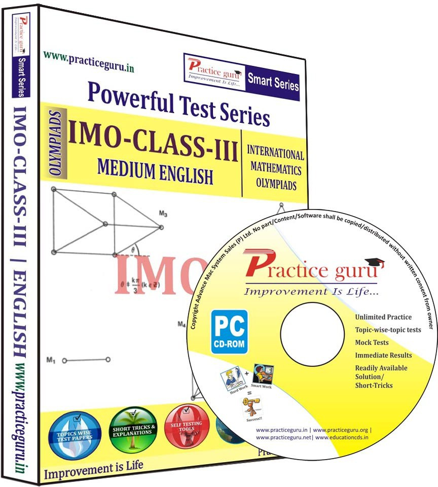 Practice Guru Powerful Test Series IMO Medium English (Class - 3)(CD)