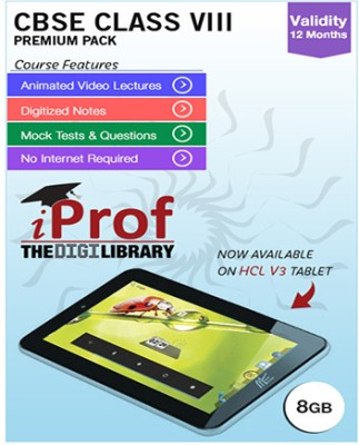 iProf CBSE Class 8 Maestro Series Premium Pack with HCL V3 Tablet