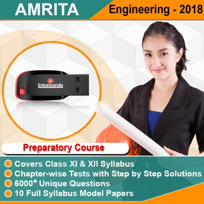 Entranceindia.com AMRITA Engineering Entrance 2018 Preparatory Course with 10 Model Papers (Pendrive)