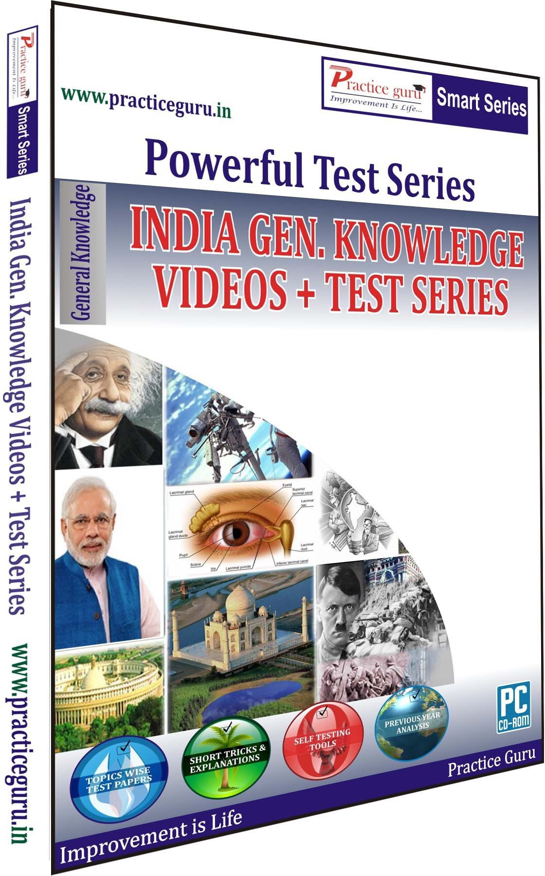 Practice Guru India Gen. Knowledge Videos + Test Series