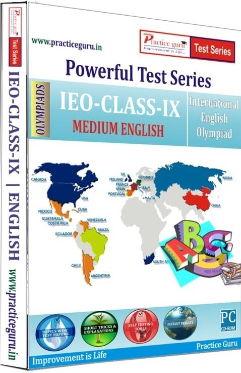 Practice Guru Powerful Test Series - IEO Medium English (Class - 9)