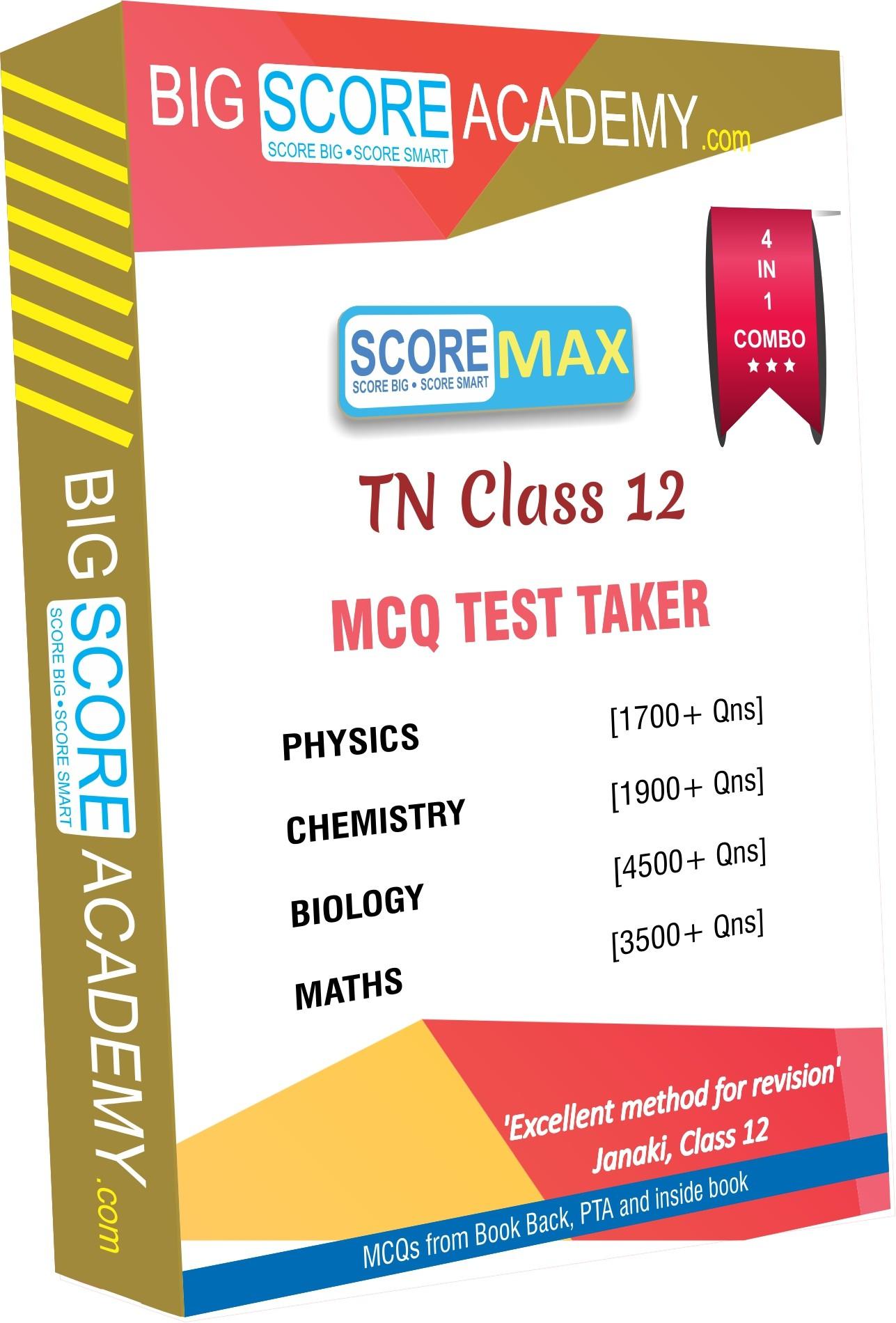 BigScoreAcademy.com Tamil Nadu Samacheer Kalvi Class 12 Combo Pack - One Mark Revision - Physics, Chemistry, Maths and Biology(DVD)
