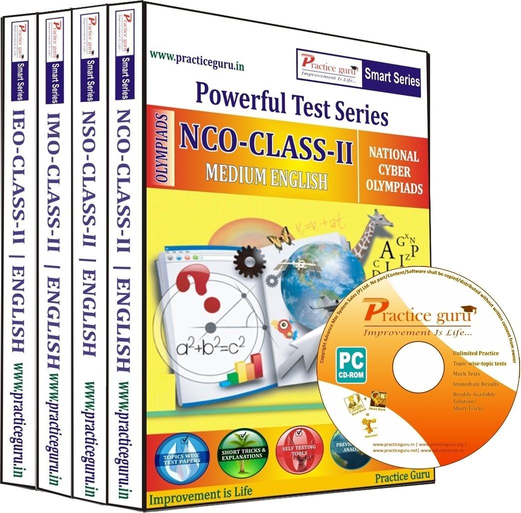 Practice Guru Powerful Test Series (NCO / NSO / IMO / IEO) Medium English (Class - 2) (Combo Pack)