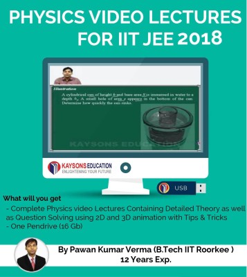 Kaysons Education IIT JEE Physics Preparation Material (2018) : Video Lectures for JEE Main and Advance Designed By IITian(Pendrive)