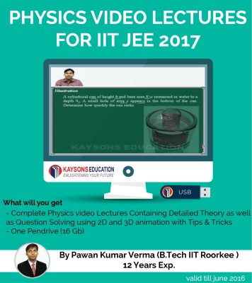 Kaysons Education IIT JEE Physics Preparation Material (2017) : Video Lectures for JEE Main and Advance Designed By IITian(Pendrive)