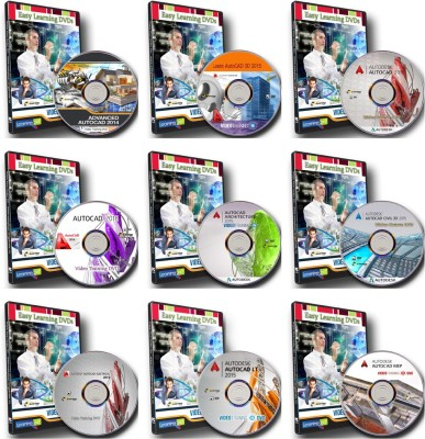 Easy Learning Master Of AutoCAD Complete Video Training Bundle Combo Pack On 10 DVDs