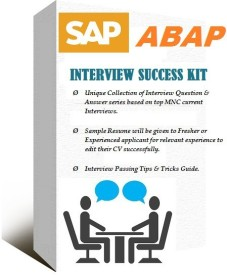 sapsmart SAP ABAP ONLINE INTERVIEW AND METHODOLOGY EXPERT (SELF VIDEO LEARNING) SUCCESS KIT(DVD)