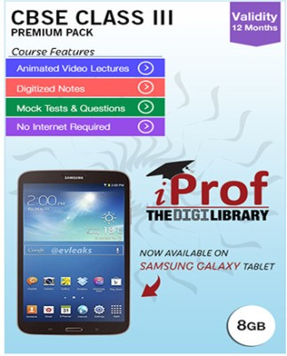 iProf CBSE Class 3 Maestro Series Premium Pack with Samsung Galaxy Tab 3 T213