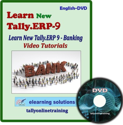 Elearning Solutions New Tally.Erp 9 Banking Video Tutorial in English