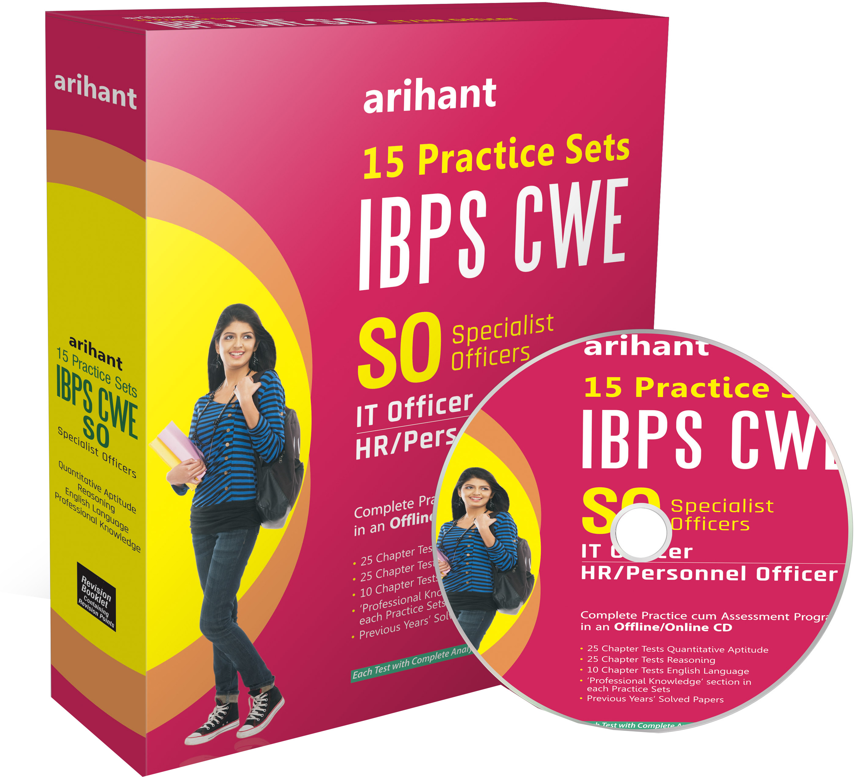 Arihant IBPS CWE SO - IT Officer / HR / Personnel Officer : 15 Practice Sets