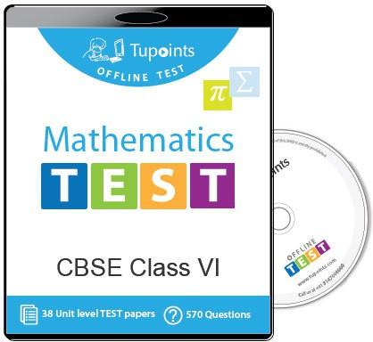 Tupoints Cbse Class 6 Maths Offline Test(DVD)