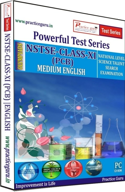 Practice Guru Powerful Test Series NSTSE PCB Medium English (Class - 11)