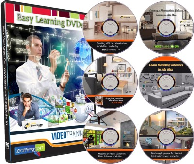Easy Learning 3ds Max for Interiors Designing 9 Courses on 6 DVDs Bundle Pack