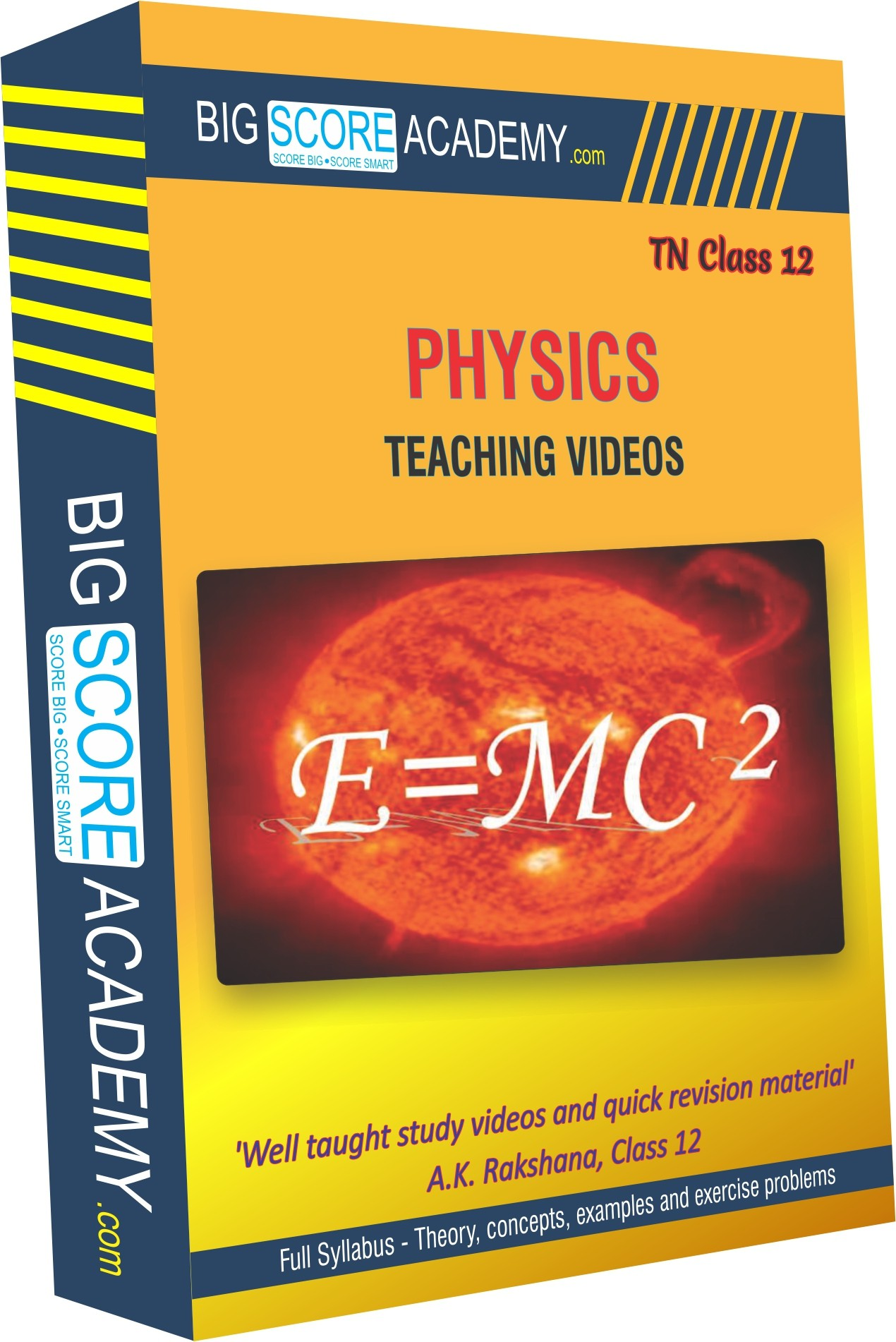 BigScoreAcademy.com Tamil Nadu Samacheer Kalvi Class 12 Physics Full Syllabus Teaching Video(DVD)