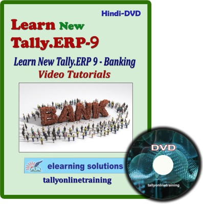 Elearning Solutions New Tally.Erp 9 Banking Video Tutorial in Hindi